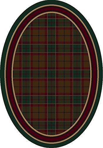 Signature Magee Tartan Emerald Rug Rug Size: Oval 5'4