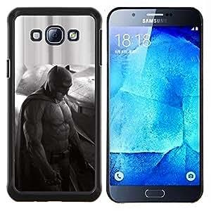 Qstar Arte & diseño plástico duro Fundas Cover Cubre Hard Case Cover para Samsung Galaxy A8 A8000 (Oscuro Murciélago Superhero - Affleck)