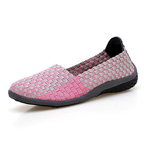 Ballet Outdoors Footwear Women Women Loafers Pink Flats Slip Habitaen Shoes On Mesh Breathable Casual Shoes 566 Pdwqn7