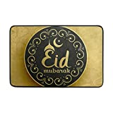 LEISISI Golden Coin Islamic Pattern Fashion Design Indoor Outdoor Doormat 23.6(L) X15.7(W) inch Non-Slip doormat Home Decor