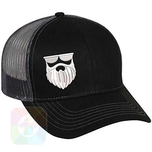 (Custom Tshirts and Hats Beard Structured Snapback Baseball Mesh Hat Cap)