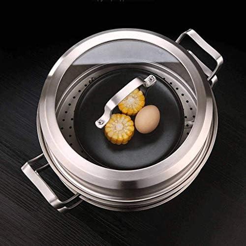 Diaod en Acier Inoxydable Marmite Profonde Induction Marmite avec Couvercle, Marmite, sécurité Insertion Professionnelle Pan avec Couvercle