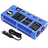 car accesories dvd - Power Inverter Car Charger Converters DC 12V to AC 110V 200 Watt - Have 3 110V Outlets + 4 USB Charging Ports + 2 Cigarette Plugs Charging for Phone/Laptop/RVS/Trucks/Cars