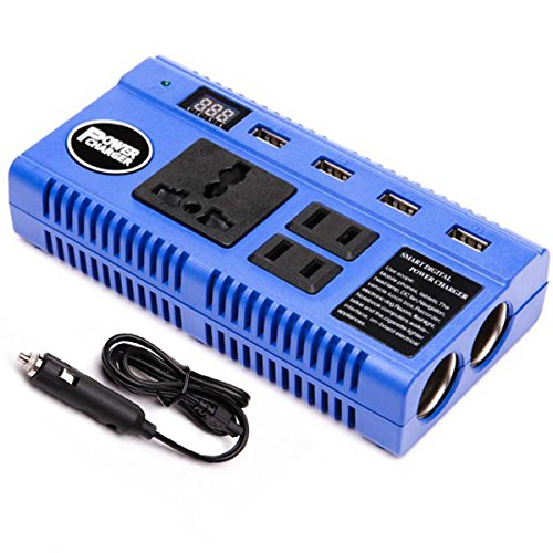 harger Converters DC 12V to AC 110V 200 Watt - Have 3 110V Outlets + 4 USB Charging Ports + 2 Cigarette Plugs Charging for Phone/Laptop/RVS/Trucks/Cars (Anywhere Telephone Table)