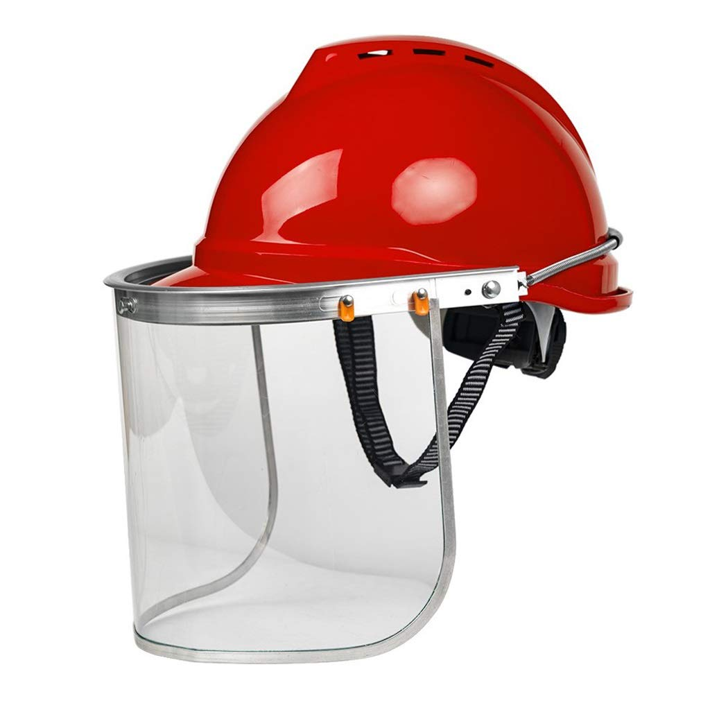 SGMYMX Casco Casco de Seguridad de Trabajo máscara de Seguridad ...