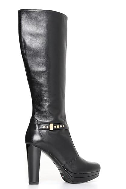 Nero Giardini A719643DE 100 nero stivale donna con tacco