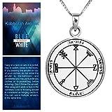 Blue White Shop King Solomon Profusion Seal Pendant Kabbalah Amulet