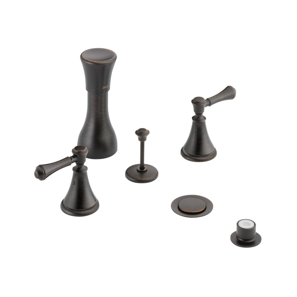 Delta Delta KBDCA-D-44-H297-RB Classic Bidet Fitting Kit Deck-Mounted Vertical Spray with Cassidy Metal Lever Handles, Venetian Bronze Venetian Bronze by Delta