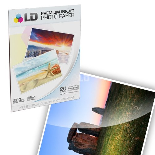LD © Remanufactured Replacement for HP 920XL / 920 Ink Cartridges: 2 CD975AN Blk, 2 CD972AN Cyan, 2 CD973AN Magenta & 2 CD974AN Yellow for OfficeJet 6000, 6500, 7000 & 7500a + FREE Photo Paper Photo #5