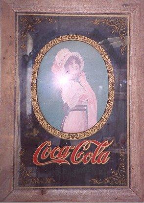 [Coca Cola Lady...in a Victorian dress with a bonnet.] (Coca Cola Dress)