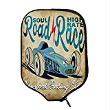 YOLIYANA Cars Durable Racket Cover,New York Racing Club Race Car from Twenties Road Race Team Old School Cool Design Decorative for Sandbeach,One Size