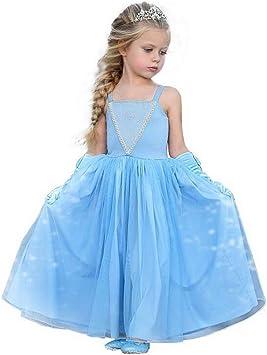 Disfraz de Princesa Elsa de Cenicienta para niñas: Amazon.es ...