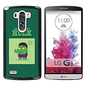 SoulCase / LG G3 D855 D850 D851 / Pop Art Green Giant Superhero / Slim Black Plastic Case Cover Shell Armor