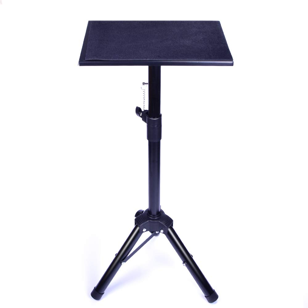 Doowops Metal Black Tripod Magic Table Magic Tricks Magician's Table Stage Close Up Street Accessories Height Adjustable Easy to Carry