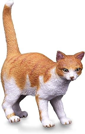 LSXLSD Simulación para niños: Animales Salvajes de plástico, Juguetes de Modelo de Gato Naranja, Colección de Juego de Mano: Amazon.es: Hogar