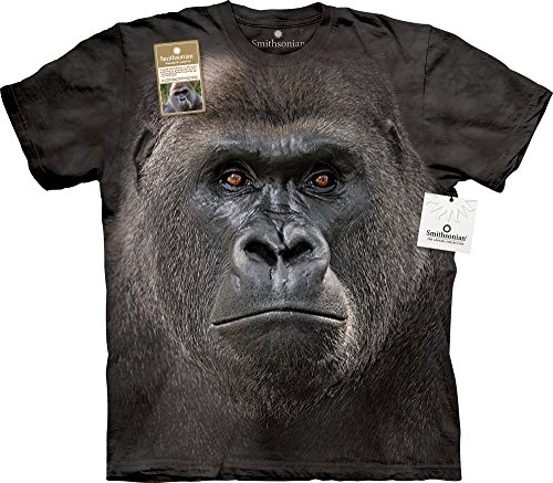 - Big Face Lowland Gorilla T-Shirt-2XL Black