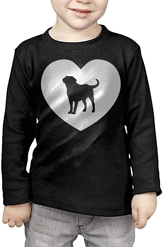Baby Boys Kids I Love Labrador ComfortSoft Long Sleeve Shirt