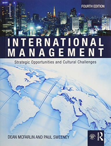 International Management  Strategic Opportunities   Cultural Challenges