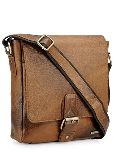 Messenger Leather Sling body Cross Bag Teakwood Real Genuine Handcrafted wqag8aR4