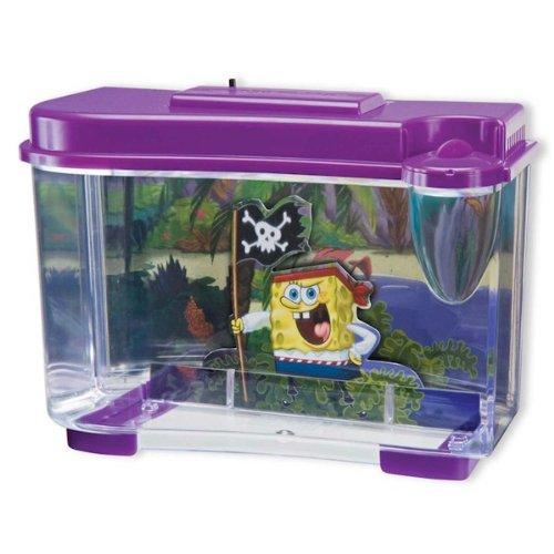 Penn Plax SpongeBob Pirate Tank Aquarium Figure