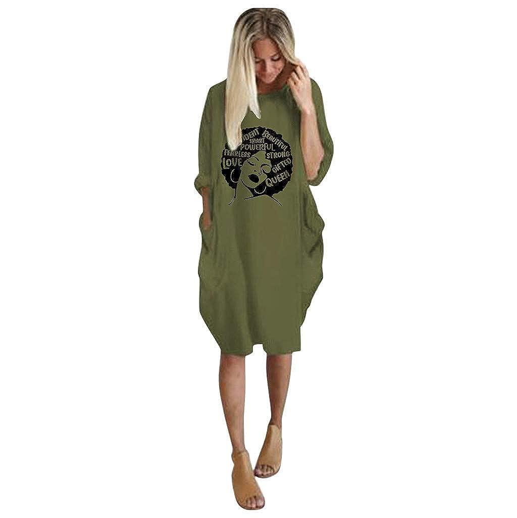 Sloater Vestido clásico de Mujer, Falda con Estampado Femenino de ...