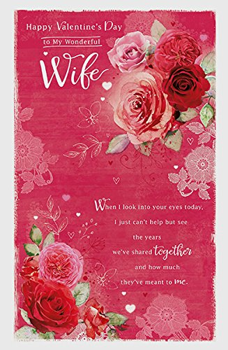 Amazon wife red roses sentimental verse happy memories wife red roses sentimental verse happy memories valentines card new m4hsunfo