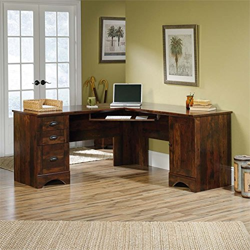 Sauder Harbor View Corner (Sauder 420474 Harbor View Corner Computer Desk, L W: 66.14