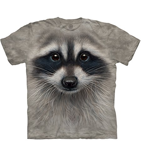 The Mountain Men's Raccoon Face T-Shirt, Gray, Medium