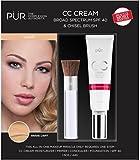 pur chisel brush - PUR Cosmetic CC Cream light SPF 40 with Chisel Brush