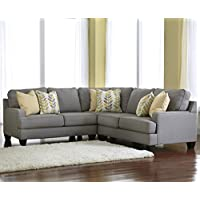 Ashley Chamberly 3-Piece Sectional Sofa Set in Alloy Finish