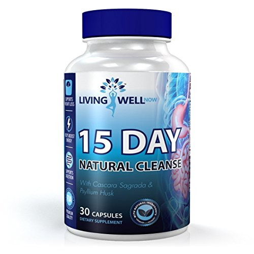 Living Well Now 15 Day Natural Colon Cleanse Detox Supplement For Weight Loss And To Improved Intestinal Health
