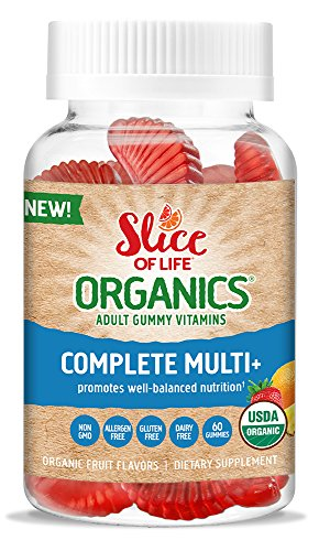 Slice Of Life Organic Multivitamin & Mineral Adult Gummy Vitamin, 60 Count