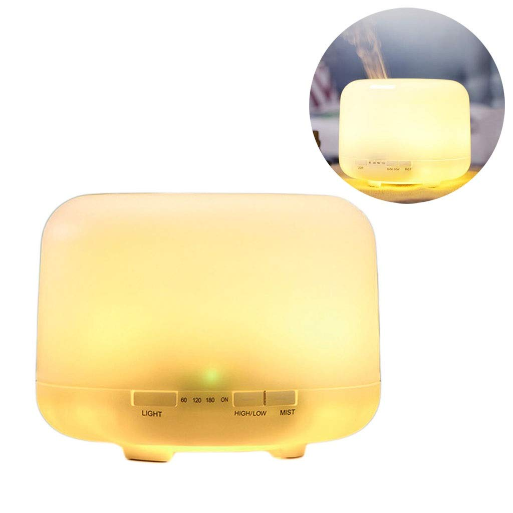 Tai-Lamp Mini Aroma Lamps Essential Oil Diffuser Aromatherapy Machine 500ml Mute Plug-in Warm Light Humidifier Air Purifier Waterless Automatic Shutdown Function [Energy Class A +++] by Tai-Lamp
