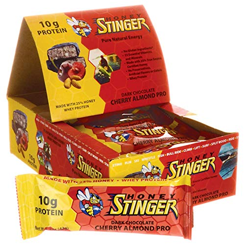 - Honey Stinger Food Cherry/Almond Protein Bar (Box of 15)