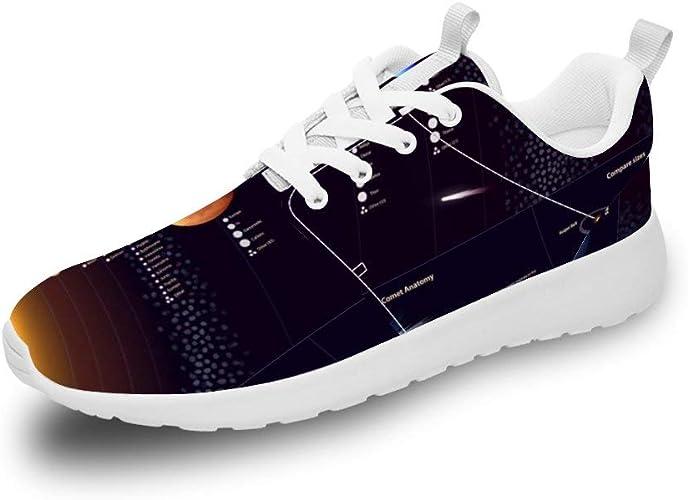 Mesllings Zapatillas de Running Unisex con Sistema Solar, Ligeras ...