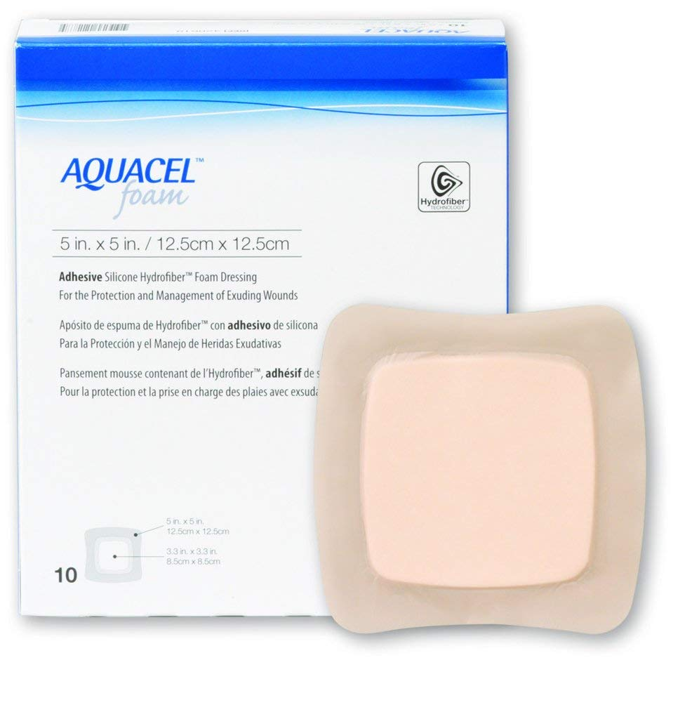 Foam Dressing Aquacel 5 X 5 Inch Square Sterile