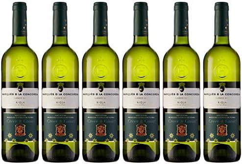 Caja de Marqués de la Concordia Selecc. Española Vino Blanco - 6 botellas x 750 ml. - 4500 ml: Amazon.es: Alimentación y bebidas