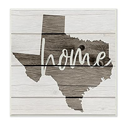The Stupell Home Décor Collection Texas Home Typography Map Wall Plaque Art