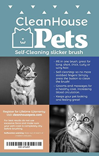 CleanHouse-Pet-Brush-For-Dogs-and-Cats-Reduces-Shedding-Up-to-95-Self-Cleaning-Slicker-Brush-Removes-Tangles-De-Sheds-Best-Cat-and-Dog-Grooming-Brush-for-All-Pet-Sizes-and-Hair-Types