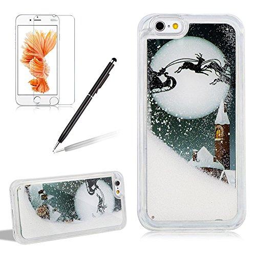 60off Coque Noël Iphone 7 Iphone 8 Blanc Noël Liquide