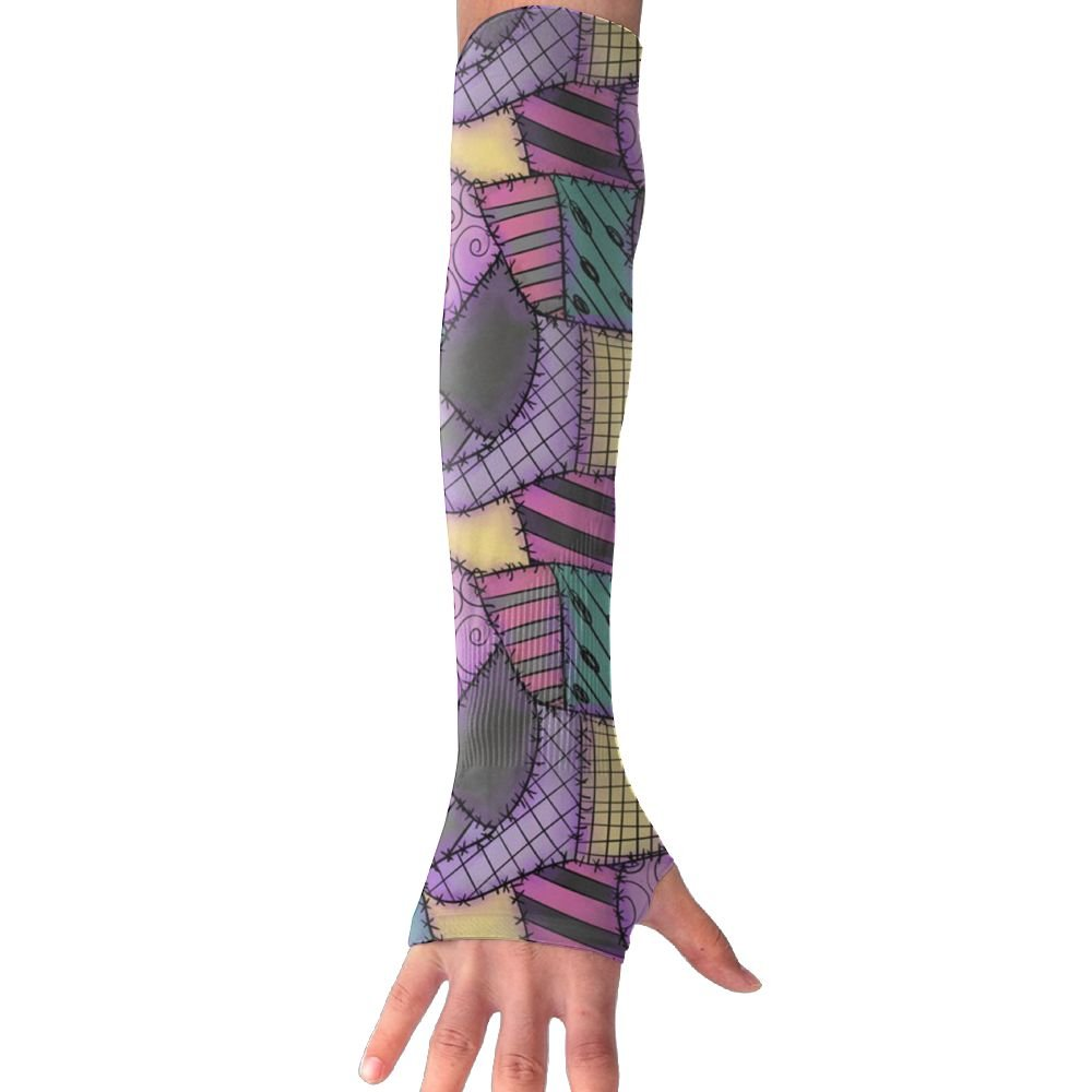Huadduo Women's Super Long Fingerless Sally Ragdoll Scraps Anti-uv Sun Protection Golf Driving Sports Arm Sun Sleeves Gloves
