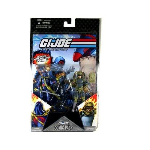 "G.I. JOE Hasbro 3 3/4"" Wave 5 Action Figures Comic Book 2-Pack Cobra Commander and Tripwire"