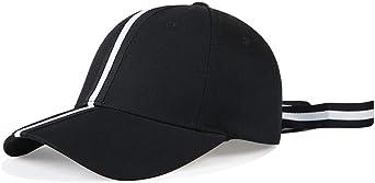 LDDENDP New Era Gorra de béisbol Rayas negras y blancas Hombres y ...