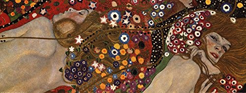 Water Serpents II, c.1907 (detail) by Gustav Klimt Art Print, 32 x 12 (Gustav Klimt Water Serpents)