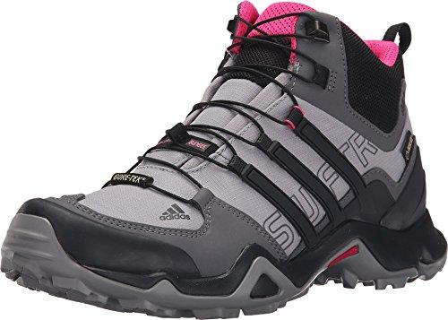 adidas Terrex Swift R Mid Gore-Tex Womens Hiking Shoe 5 Shock Pink/Granite/Black 1