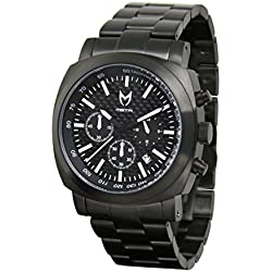 Meister Watches / MSTR Watches Men's Racer Watch | RA102SS | Black & Black | Stainless-Steel Case And Stainless Steel Band