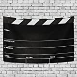 WALLD Ethel Ernest Cool Movie Reel Film Board Wall Art Decorative, Wall Hanging Tapestry for Bedroom Living Room Dorm Decoration,60 X 51 Inches