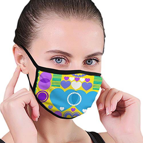 Sskusui Colored Mouth Mask,Unisex Mask Personality Print Anti-Pollen PM2.5 Mask Anti-dust and Anti-infective Polyester Face Mask Face for Men and Women