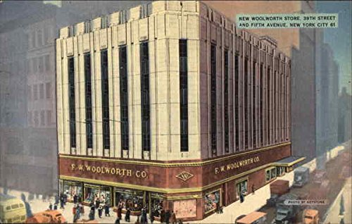Stores 5th Avenue New York - New Woolworth Store at 39th Street & Fifth Avenue New York, New York Original Vintage Postcard