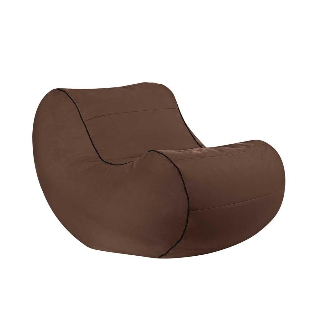 Pharao24 Sessel Sitzsack in Braun kaufen